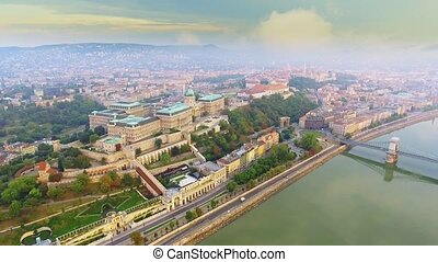 The Buda Royal Castle, a beautiful Baroque palace located on...