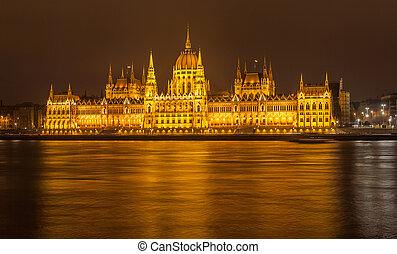 The Budapest Parliament at night - Hungary