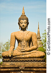 The Buddha status - Buddha status at sukothai historical...