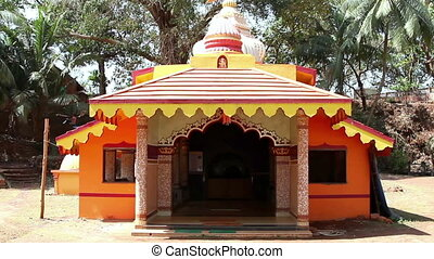 The buddha temple in India. - The buddha temple in India at...