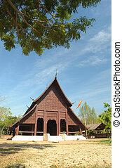The Buddish temple in Luang Pra Bang , Laos.