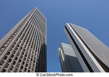 the building at Shinjuku, Tokyo - the High-rise buildings...