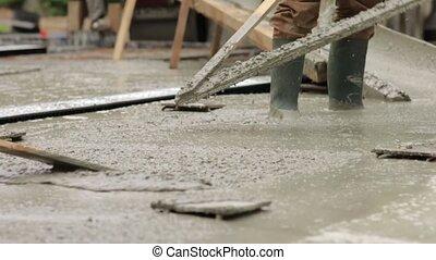 The Building Foundation - The building concrete foundation...