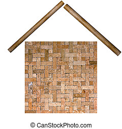 building from frame mosaic