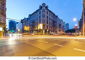 The building in the center of Katowice