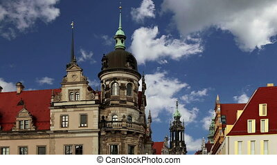 The building in the historic center of Dresden (landmarks), Germany
