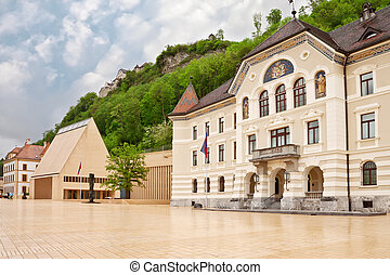 The building of parliaments of Liechtenstein on the main ...