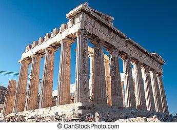 Parthenon in Acropolis - The building of Parthenon in ...