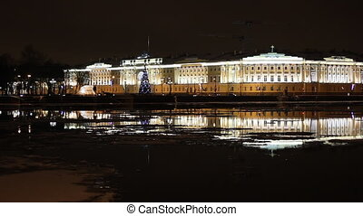 The Building of Senate and Synod in St Petersburg (Russia)...