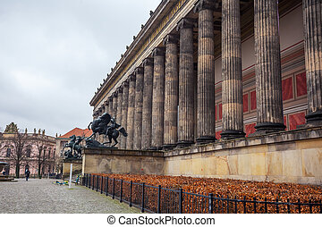 The building of the Altes Museum on the Museums Island in Berlin