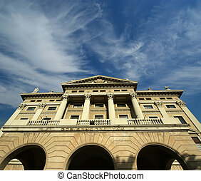 The building of the military government. Barcelona, Catalonia, Spain