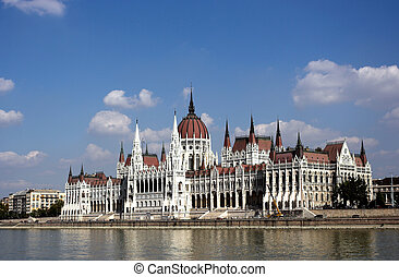 The building of the Parliament of Hungary -...