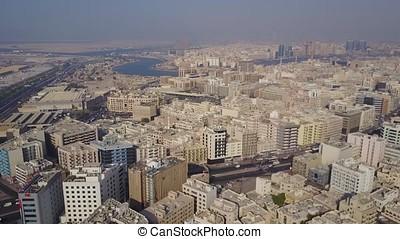 The Buildings In The Emirate Of Dubai. Aerial view. Dubai,...