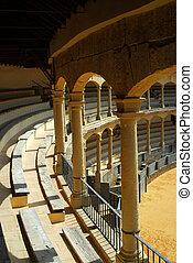 The bull arena of Ronda, Spain