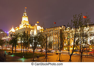 The Bund - famous waterfront area in central Shanghai, China