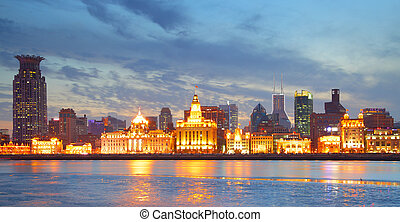 The Bund - Panoramic view of the Bund, Shanghai, China