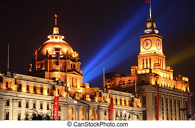 The Bund, Shanghai - Famous buildings on the Bund in...