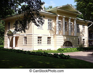 The bureau outhouse in Arkhangelskoye Estate. Moscow