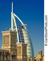 Burj Al Arab - The Burj Al Arab Hotel in Dubai, UAE, taken...