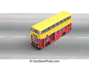 Bus model isolated over a white background