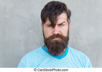 Fantastic His Long Beard Works Well Bearded Man With Stylish Mustache And Natural Hairstyles Runnerswayorg