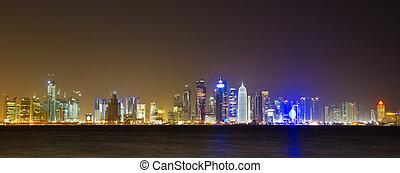 Doha - The business center of Doha, Qatar