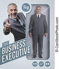 The business executive lifelike doll