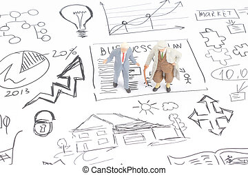 business man with business idea concept