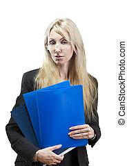 business woman with a folder for do