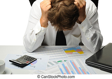 The businessman -  bankrupt. Young the man in a depression