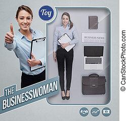 The businesswoman lifelike doll