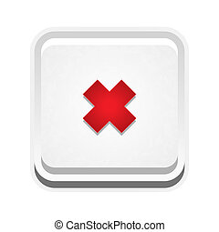 the button with cross