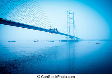 the cable stayed bridge construction