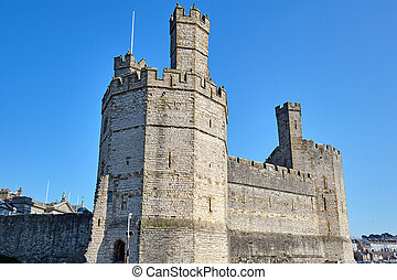 The Caernarfon Castle in North Wales