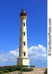 The California Lighthouse in Aruba located on the West shore of the island