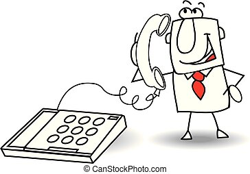The call of a businessman - A businessman is calling with an...