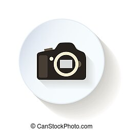 The camera body flat icon
