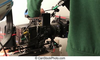 The camera film set equipment