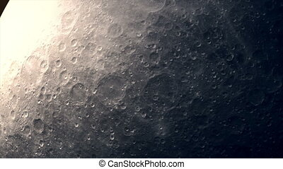 The camera flies close to the rotating moon. - Animation of ...
