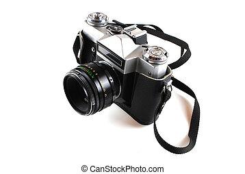 The camera in style of a retro