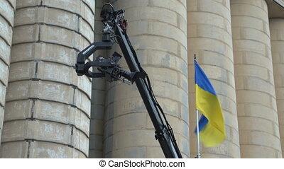 The camera on the camera crane - The camera work and camera...