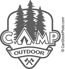 The camp outdoors hiking. - The camp outdoors hiking and...