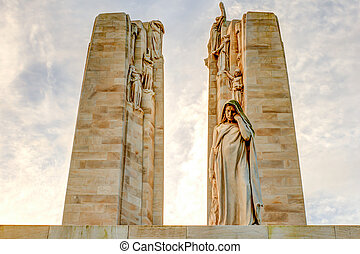 the Canadian memorial at Vimy France World War 1