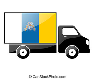silhouette of a truck