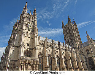 The Canterbury Cathedral in Kent England UK