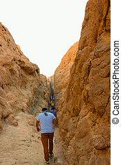 The Canyon at Dahab, Sinai at Egypt - The people at safari ...