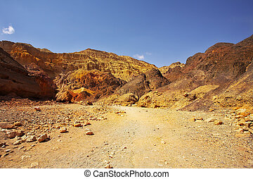 The canyon in mountains