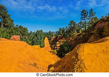 The canyon of ocher - natural dyes