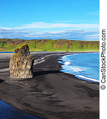 The cape Dirkholaey in Iceland