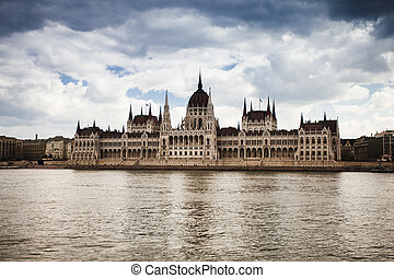 The capital of Hungary - Hungary, view of Parliament...